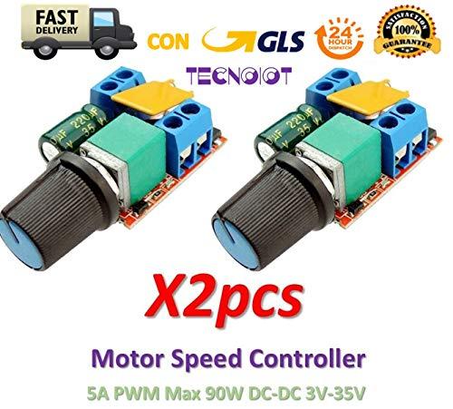 2pcs 5A PWM Max 90W DC Motor Speed Controller 3V-35V Switch LED Dimmer |2 Stück 5 A PWM max. 90 W DC-Motordrehzahlregler 3 V-35 V-Schalter LED-Dimmer -