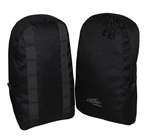 Tashev universelle Rucksack Seitentaschen Extrataschen Zusatztaschen (Schwarz)