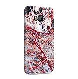 Granite Marmor Stone with Rubinrot Cracks Dünne Handy Schutzhülle Hardcase Aus Hartplastik Hülle für HTC One M8 Handyhülle Case Cover