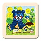 BINO Europe 13200 - Puzzle, Baribal mit Malbuch