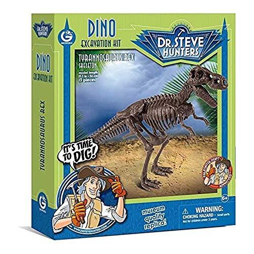 Geoworld 625262 - Dr. Steve Hunters: Dino Ausgrabungs-Set M - T-Rex-Skelett, Alter: 6+, Größe: 34 cm (Kinder T-rex-informationen Für)