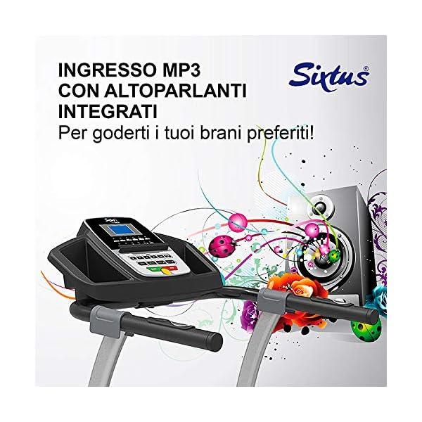 Sixtus Tapis Roulant Elettrico Pieghevole, Bluetooth, App KINOMAP, 12 Km/h, Sensore Cardiaco, Tappeto Ammortizzato… 5 spesavip