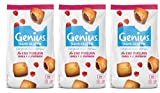 Genius Sans Gluten - Cake moelleux sans gluten et sans lactose - Coulis à la Framboise - (7x40g) 280 g - Lot de 3