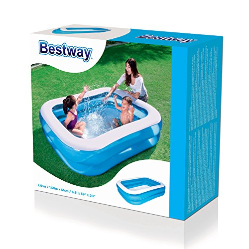 "Bestway 54005 Family Pool \""Blue Rectangular\"", 201x150x51cm"