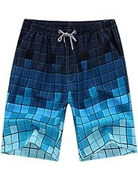 Y-BOA Short de Bain Homme Casuel Imprimé Short Fitness Swim Voyage Hawaï