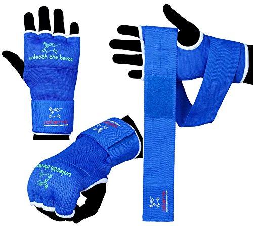 Islero Boxen Innen Gel-Handschuhe, Handwraps Boxsack MMA Grappling Martial Arts Verbände S/M