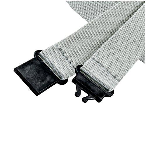 2x gancio easy going linie zwo/® Grigio Confezione da 10 laccetti portachiavi 20 mm Gancio di sicurezza