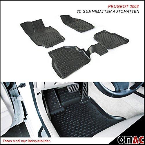 Omac GmbH PEUGEOT 3008Tappetini in gomma Polymer alta 3d gomma tappetini per auto a partire dal 2017