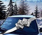 GiftWrap Etc. Grand Arceau de Voiture en Argent métallisé - Décoration de Cadeau avec Un Grand Ruban, entièrement assemblée, 25' de Large, Noël, Anniversaire