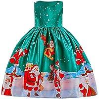Homebaby Neonata Bambino Piccolo Costume Cosplay di Natale Babbo Stampare  Vestito Ragazze Vintage Mini Abiti Elegante b974893cdbd