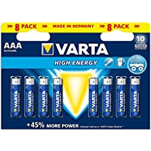 Varta High Energy Batterie AAA Micro Alkaline Batterien LR03 - 8er Pack
