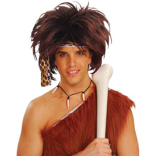 Wilder Steinzeit Höhlenmensch Verkleidung Halloween Perücke Kostüm Accessoire (Höhlenmenschen Kostüme)