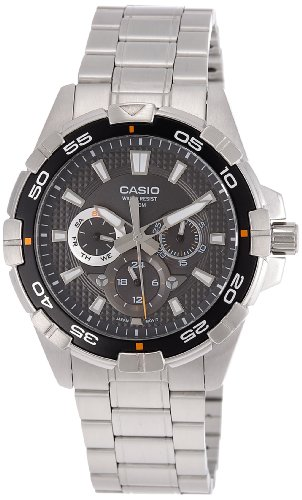Casio MTD-1069D-1AVDF (A657) A657 (A657) – Reloj para hombres, correa de acero inoxidable color plateado