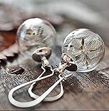 Echte Pusteblume Ohrhänger versilbert Glas-Hohlperlen Ohrringe handmade Schmuckphantasien...