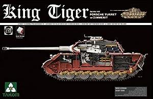 takom tak2047s King Tiger Henschel ABT. 505W/zimmerit, Interior de 1: 35