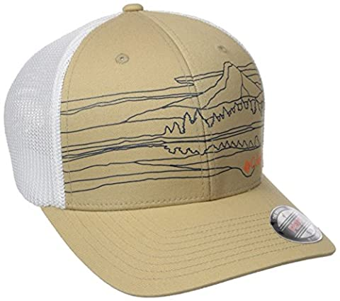 Columbia Men's Mesh Ball Cap, Lion/Mountain Graphic, S/M
