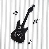 YANYANGXIN Moderno colorido mudo reloj de pared casa oficina decoración regalo para sala de estar de cocina dormitorio La música de guitarra reloj de pared/otros/negro
