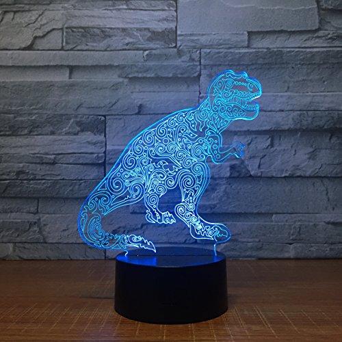 Leisurely Lazy Lámpara de ilusión óptica 3D