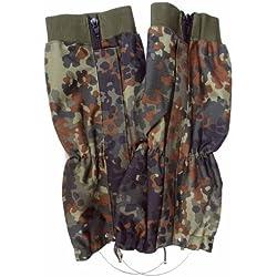 Mil-Tec BW Polainas protectoras de humedad Con Cuerda de acero - Flecos Camuflaje