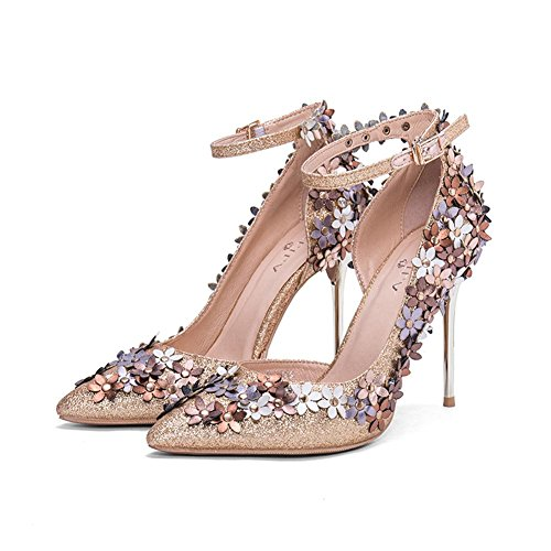 a0d92b2567e57a L YC® Frauen Sequins High Heels Sommer Fine Mit Dem Tipp Des Wortes Damen