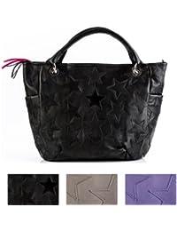 FEYNSINN sac porté épaule WILLOW - grand - besace hobo - sac des dames noir en cuir véritable