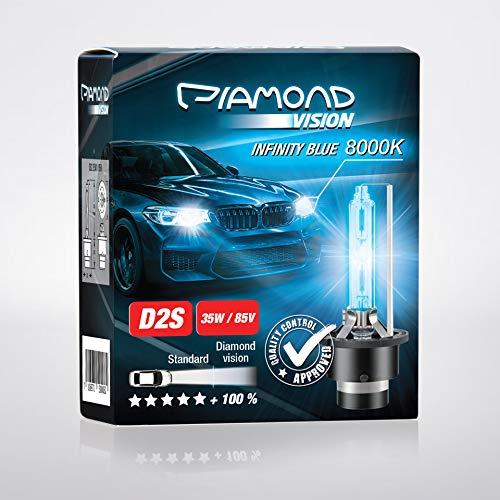 2x D2S 35W 85V 8000K Diamond Vision HID Bi Xenon Brenner Whitevision White Weiß Super Extrem Hell Laser Kit Nightbreaker Extreme Vision Ultra Blue Hyper Duobox Gasentladungslampe P32d-2