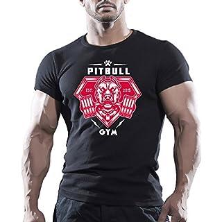 Arubas-uk Pitbull Gym Herren T-Shirt, für Bodybuilder, Motivations-T-Shirt FÜRS Training/MMA / Workout - XL