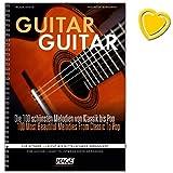 Telecharger Livres Guitar Guitar Collection des 100 plus belles et les plus populaires Melodies en classique Chansons du monde entier Evergreens Pop Rock Hits et musique de film pour guitare Facile a moyen ARRANGIERT avec colore Cœur Note Pince (PDF,EPUB,MOBI) gratuits en Francaise