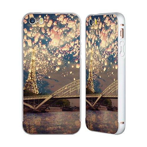 Ufficiale Paula Belle Flores Lanterne Su Parigi Europeo Argento Cover Contorno con Bumper in Alluminio per Apple iPhone 6 Plus / 6s Plus Lanterne Su Parigi