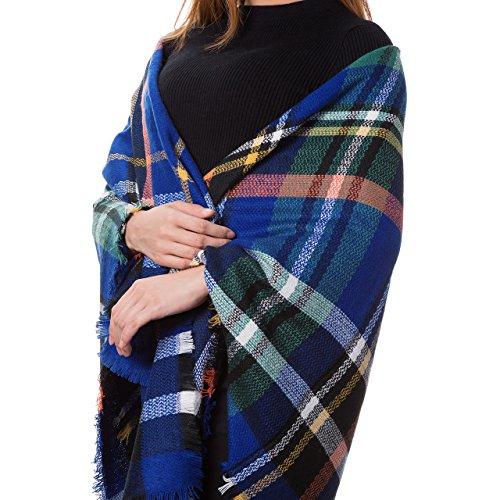 Atmoko Écharpe Châle Plaid Cachemire Hiver Automne Printemps en Tricot Laine Tissu Glands à la Mode pour Femme Fille Homme Garçon, Cadeaux Saint-Valentin pour Famille et Amis