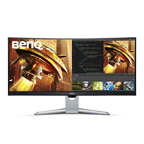 BenQ EX3501R, Monitor Curvo Gaming (Ultra WQHD 100 Hz HDR, 21:9, 3440 x 1440, Free-Sync, 1800R, HDMI, Display Port, USB-C), DP, HDMI, USB Type-C, 35', Gris