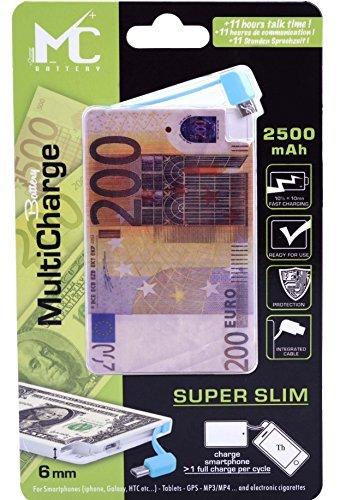 2500mAh 200 € EURO Powerbank Power Akku Externerakku Externer Akku USB Ladegerät für Smartphone tablet Mp3 & E Shisha Zigaretten geeignet Champ Batter