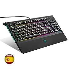 Teclado Mecánico Gaming de Tronsmart TK09R,RGB Retroiluminado 105 Keys, Switches Blue,Anti-Ghosting-Versión,programable con Disposición Española