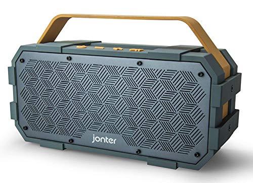 Bluetooth-Lautsprecher mit eingebautem Subwoofer, JONTER [M90], großer Leistungstreiber, großzügiges Outdoor-Design, wasserfestes IPX5-Gehäuse, geeignet für Party-Atmosphäre