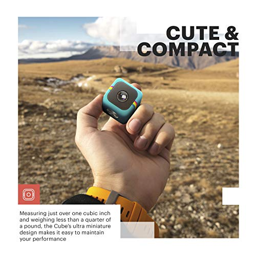 Polaroid Cube+ Live Streaming 1440p Mini Lifestyle cámara de acción con Wi-Fi y estabilización de Imagen (Negro)