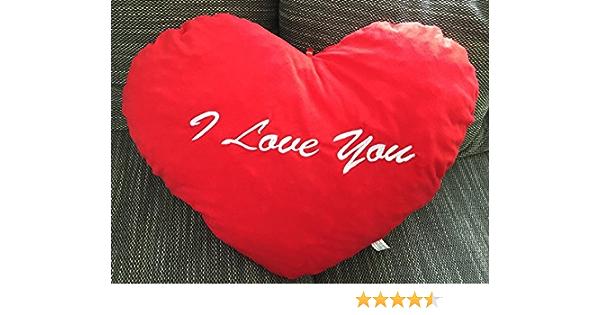 Plüschherz Ich liebe Dich M rot Herzkissen Herz Kissen love Valentinstag Plüsch