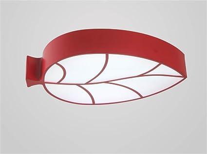 LILSN Kinder Deckenlampe Modern Minimalist Blatt Form LED Wohnzimmer Schlafzimmer Lampe Kindergarten Vergnugungspark Cartoon