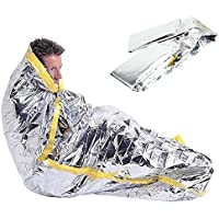 Reusable Emergency Sleeping Bag, Starworld Portable Outdoor Silver Foil Waterproof Camping Survival Bag