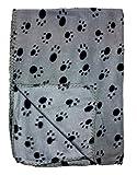 Best bogo Brands Blankets - Gray Fleece 39 x 27 Inch Pet Blanket Review