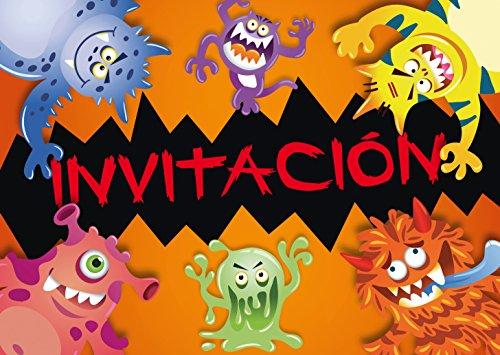 """Edition Colibri 10 Invitaciones en español """"Monstruo"""": Juego de 10 Invitaciones para..."""