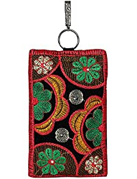 Iphone Purse Pouch And Money Bag Pouch With Long Strap For Women & Girls (Red & Black Color) By Suman Enterprises