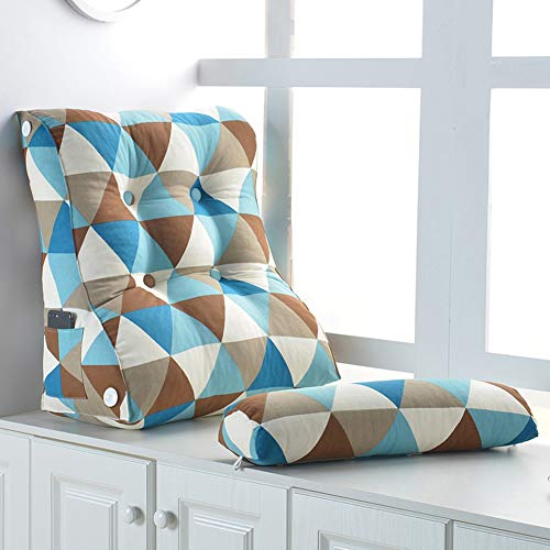 CXYGRLP Almohada Cuña Nórdica Simple Triangle Pillow Flex Back Support Cojín De...