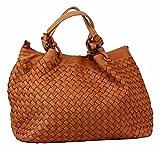BZNA Bag Rene orange Italy Designer Damen Handtasche Schultertasche Tasche Schafsleder Shopper Neu