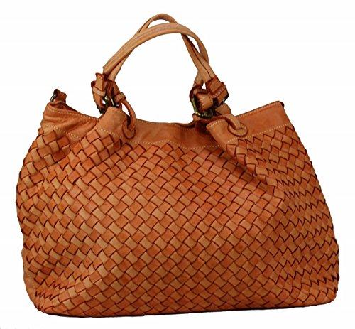 BZNA Bag Rene helles light orange Italy Designer Damen Handtasche Schultertasche Tasche Schafsleder Shopper Neu -