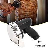 Couteau à Kebab électrique Rechargeable et sans fil Couteau à Kebab Electrique Professionel Machine à Kebab Ronde Kebab Couteaux 80W