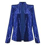 Vovotrade Donna Lustrino Giacca Slim Fit Casual Blazer Jacket Suit
