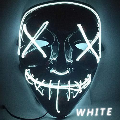 LED Leuchten Lustige Masken Die Säuberung Wahl Jahr Große Festival Cosplay Kostümzubehör Party Masken Leuchten In Dark-6 ()
