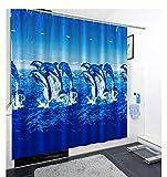 Duschvorhang Vorhang Badewannenvorhang Delfin Ozean 180 x 180 cm ikl. Ringe