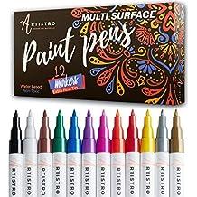 PINTURA bolígrafos para Rock pintura, piedra, cerámica, cristal, madera, metal y
