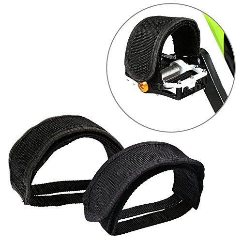 Gear BMX Fahrrad Doppel Klettverschluss Anti-Rutsch Pedal Zeh Clip Riemen Magic Tape, Schwarz (Bmx Bike Gear)